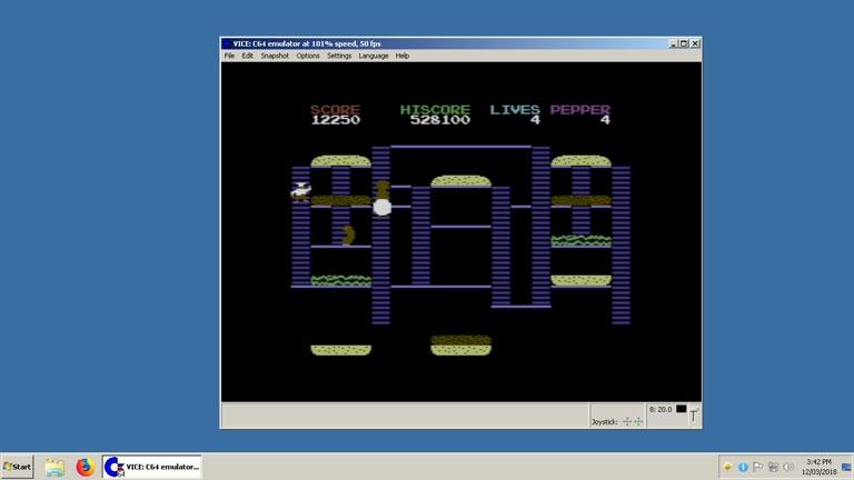 Commodore 64 - Burger Time 97 - EMU - Points - 691,750 - Clay Karczewski