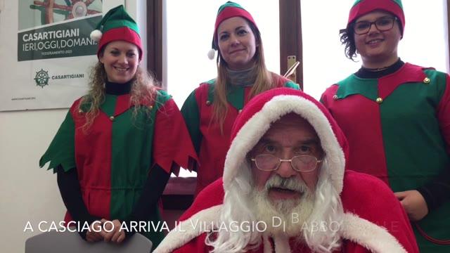 Video: A Casciago arriva Babbo Natale