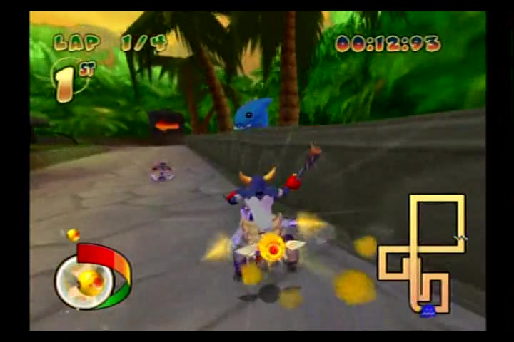 PlayStation 2 - Pac-Man World Rally - NTSC - Time Trial Mode - Grape Cup - Jungle Safari [Fastest Race] - 02:12.36 - Fred Bugmann