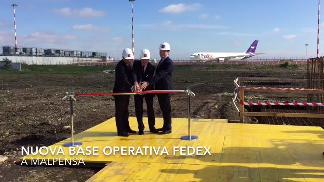 Video: Iniziano i lavori per la nuova sede FedEx a Malpensa