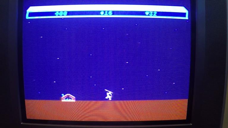 Atari 400 / 800 / XL / XE - Choplifter - Default Settings - 64 - Craig Anstett