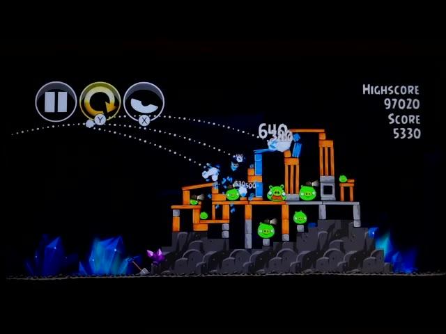 Nintendo Wii U - Angry Birds Trilogy - Angry Birds Classic - Mine and Dine - 16-10 - 102,450 - Rodrigo Lopes