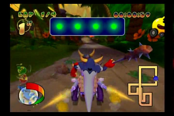 PlayStation 2 - Pac-Man World Rally - NTSC - Time Trial Mode - Grape Cup - Jungle Safari [Fastest Lap] - 30.16 - Fred Bugmann
