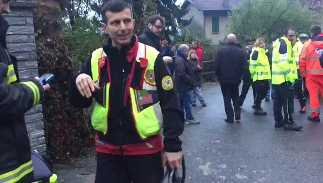 Video: Cade un elicottero, soccorsi a Bisuschio