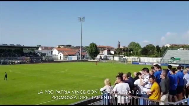 Video: Festa a Busto Arsizio per la Pro Patria in C