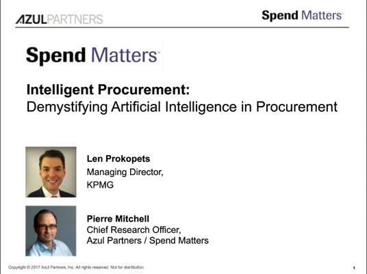 Demystifying Artificial Intelligence in Procurement slide image