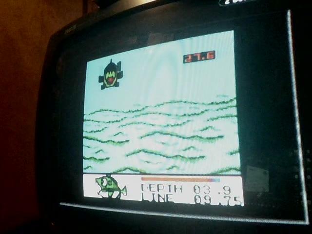 Game Boy / Game Boy Color - Black Bass: Lure Fishing - Biggest Black Bass Caught - 6.9 - Brandon Finton