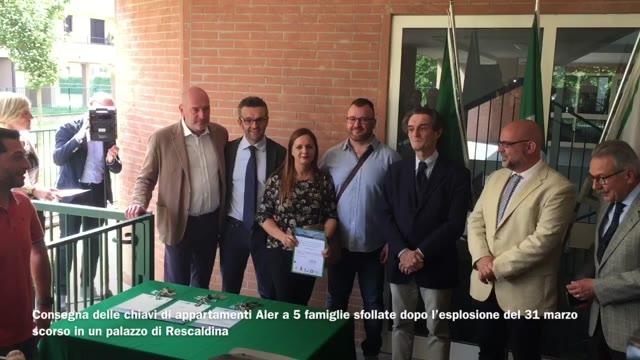 Video: La consegna delle case Aler agli sfollati di Rescaldina