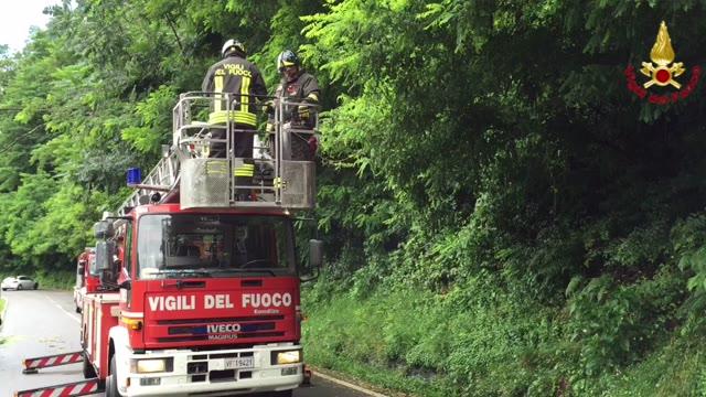 Video: Vigili del fuoco contro maltempo